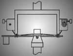 Устройство для испытания плоских образцов на трехточечный изгиб